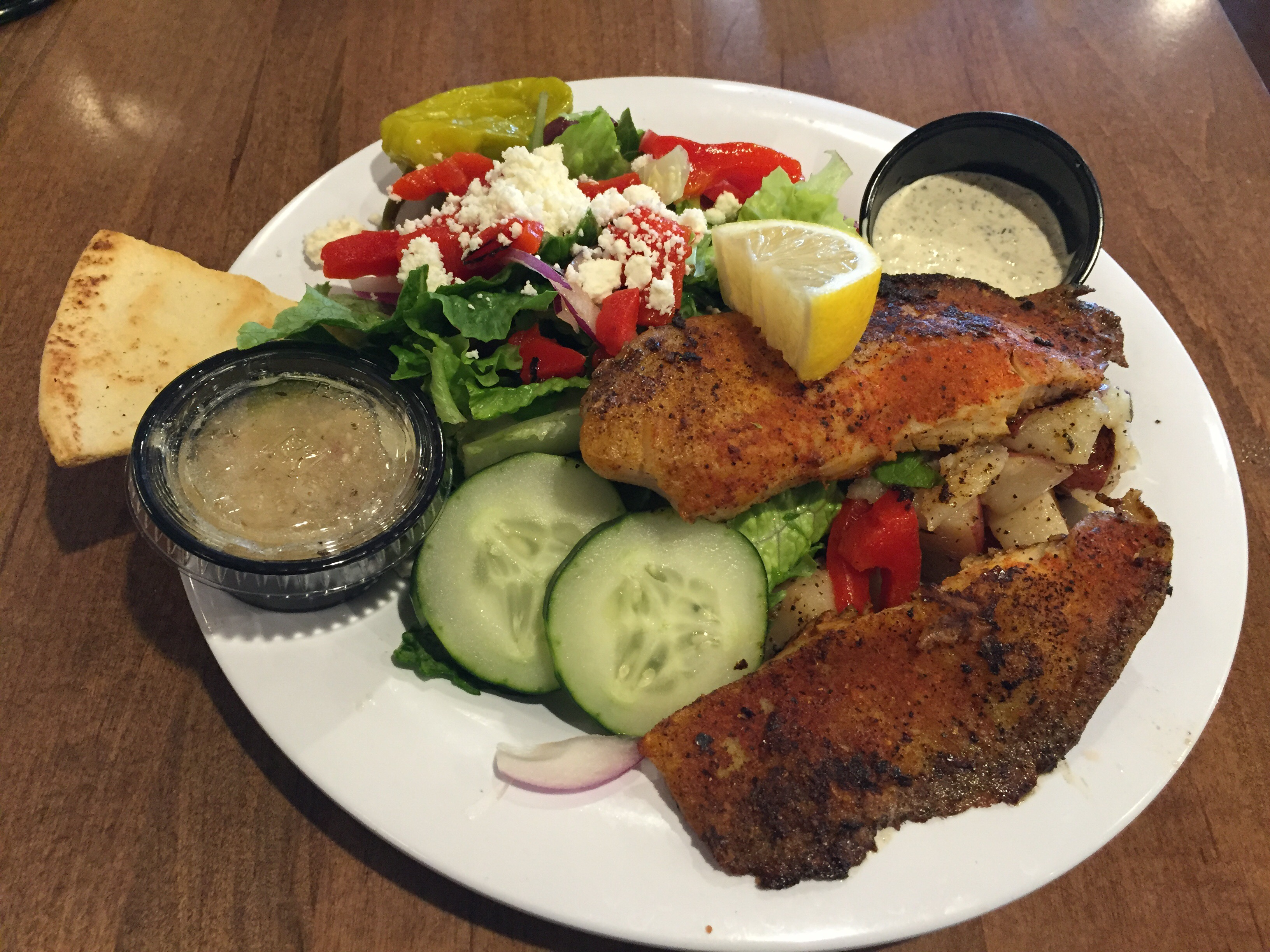 Greek Tilapia Tender Salad advise